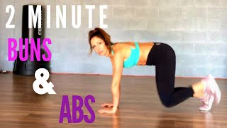 2 Minute Workout Buns and Abs: At home workout