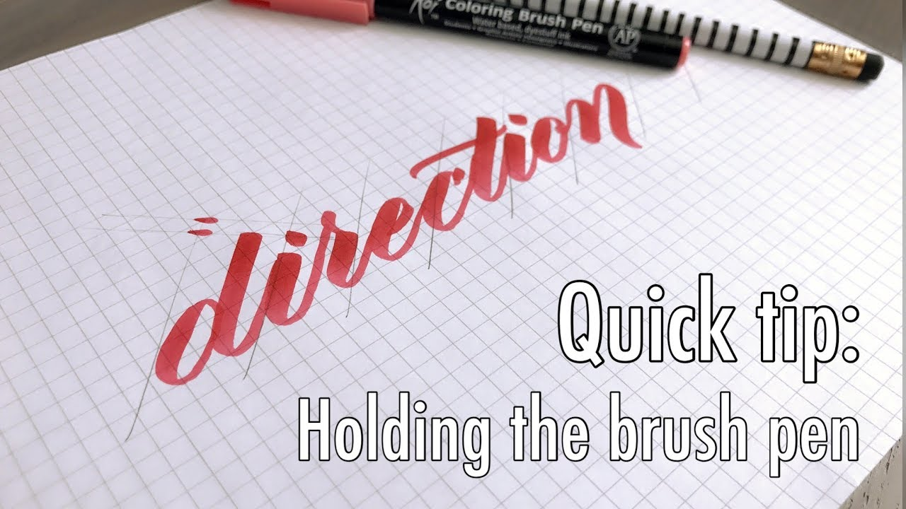 Quick tip holding the brush pen youtober day youtube