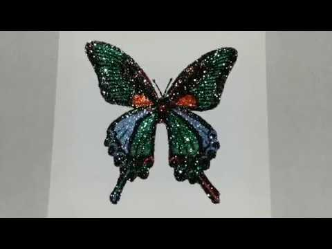 How to make glitter painting