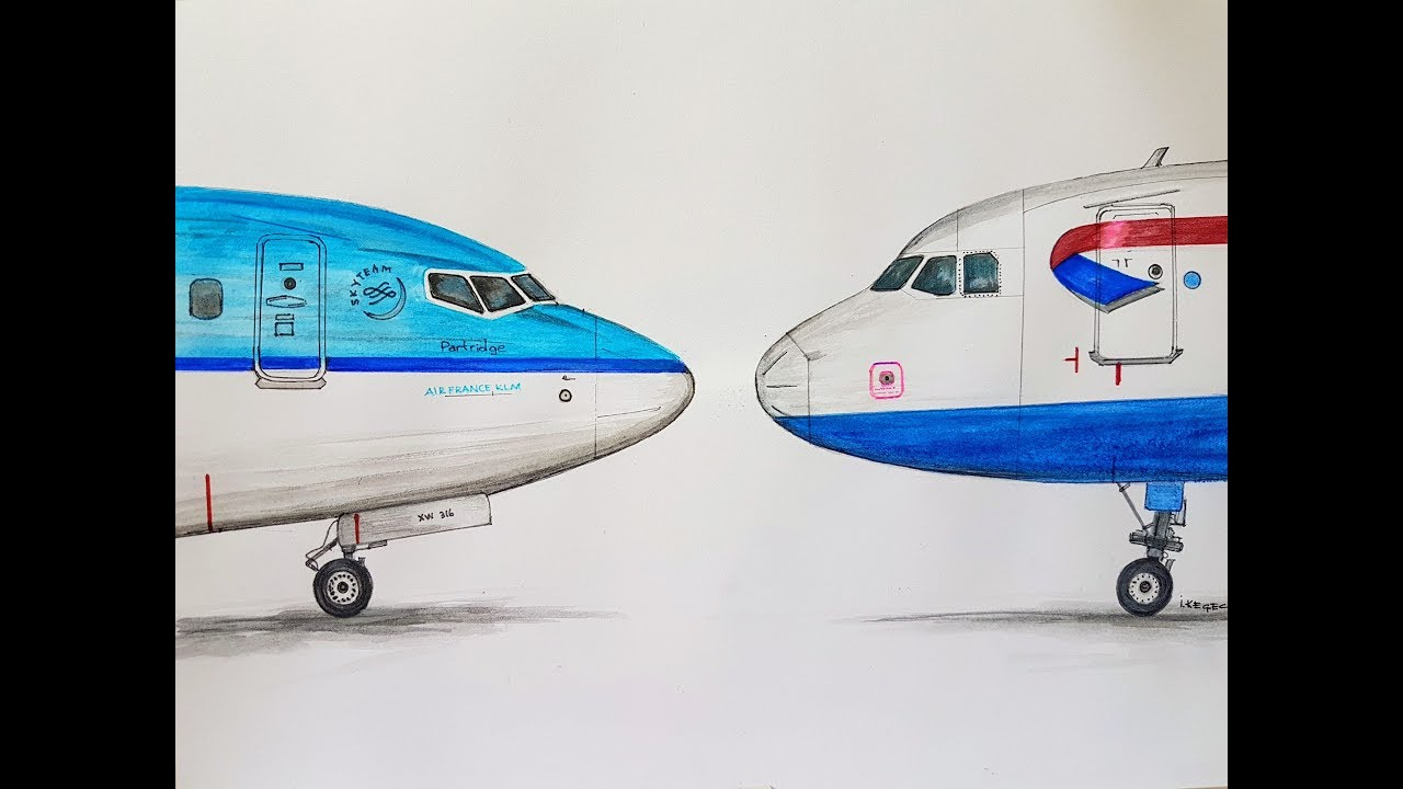 Boeing 737 or Airbus A320? Speed drawing