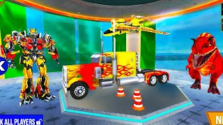 Outstanding Police Truck Robot Dinosaur Transformation / Police Truck Robot Car Jet plane Games 2021 screenshot 2