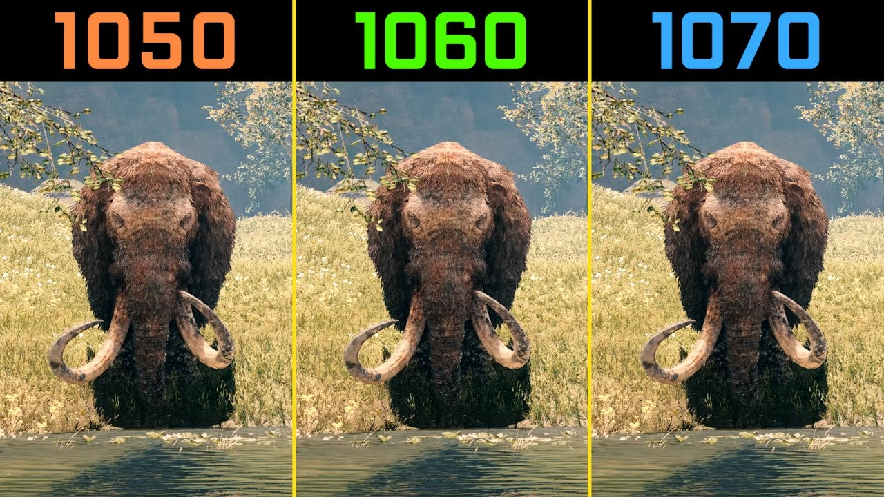 Far Cry Primal Gtx 1050 Ti Vs Gtx 1060 Vs Gtx 1070 1080p Youtube