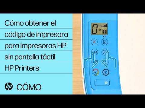 Cómo obtener el código de impresora para impresoras HP sin pantalla táctil | HP Printers | HP