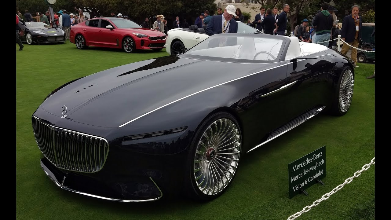 vision mercedes-maybach 6 cabriolet first look - 2017 monterey car