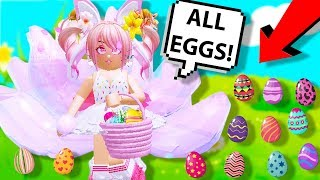 TODAS LAS UBICACIONES DE EGG EN ROYALE HIGH EASTER EVENT! Royale High (Roblox Royale High Easter Update)