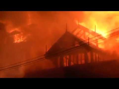 Huge fire breaks out at Yangon's lakeside hotel