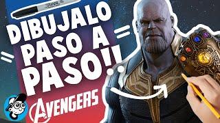 Como Dibujar a THANOS de Avengers Infinity War paso a paso, thanos fortnite, dibujo facil a thanos
