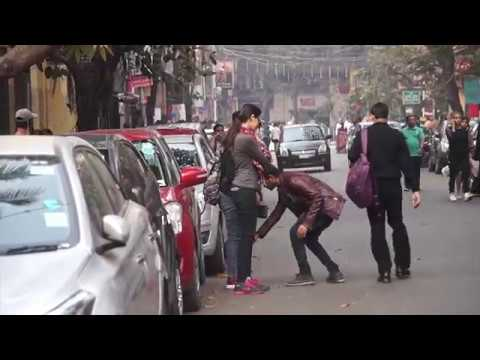 Touching Strangers Feet | Cute Girls and Hot Girls Edition | Prank in India | GyankakshTV