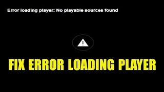 Fix error loading player firefox ✔