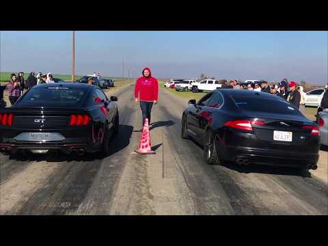 Jaguar Xf Vs Mustang Gt,And More...New Year Races.