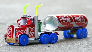 How to Make a Coca-Cola Truck with DC motor - Trailer