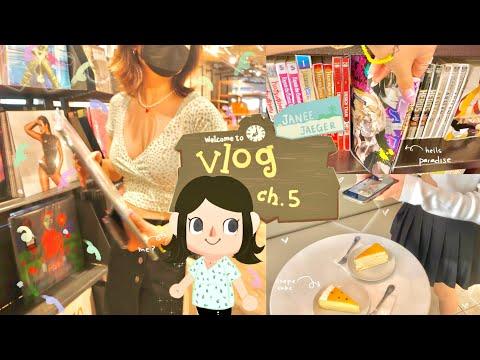 vlog ch.5 🧚🏻♀️🧷// farmers market, manga shopping/packages, food, editing ft.filmora