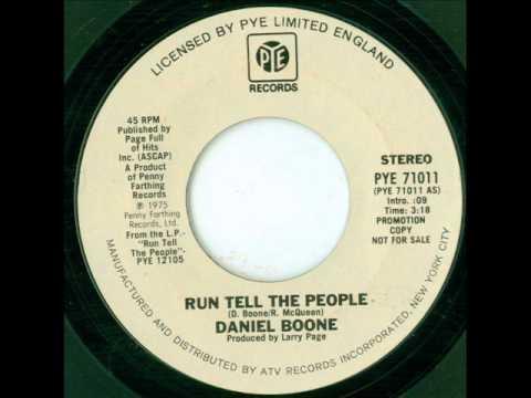 Daniel Boone - Run Tell The People