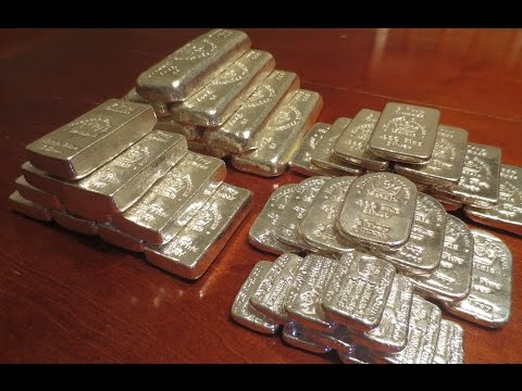 Monarch Precious Metals MPM Poured Silver Bars Unboxing