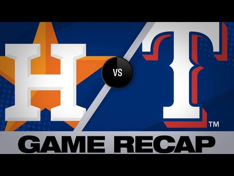 Sports Desk - Rangers use 5-run 1st to down Astros