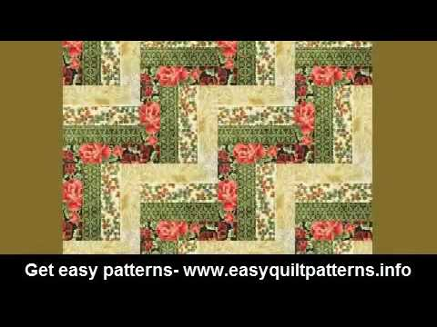 Simple Hand Quilting Designs Disappearing Rail Fence Quilt