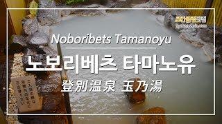 [일본온천여행] 노보리베츠온천의 저렴한 료칸 노보리베츠…