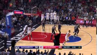 Nice Pass Lance! Lance Stephenson to DeAndre Jordan for the Jam