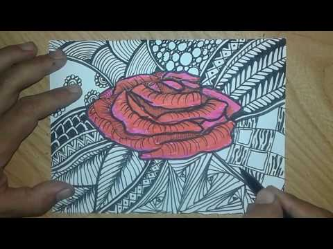 Drawing Zentangle Quick And Fast Youtube