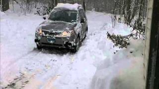 subaru forester 20 inches of snow