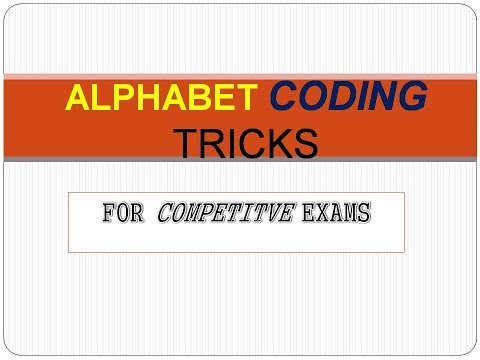 HOW TO REMEMBER ALPHABETS CODES FOR COMPETITIVE EXAMS