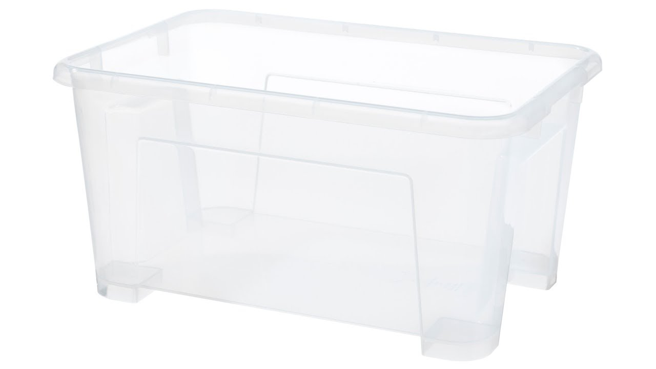 Ikea Samla Box Clear 11x7 ½x5 ½ 1 Gallon Lid For 4k
