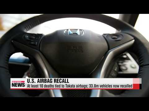 Almost 34 million vehicles to be recalled in U.S. over defective airbags   다카타,