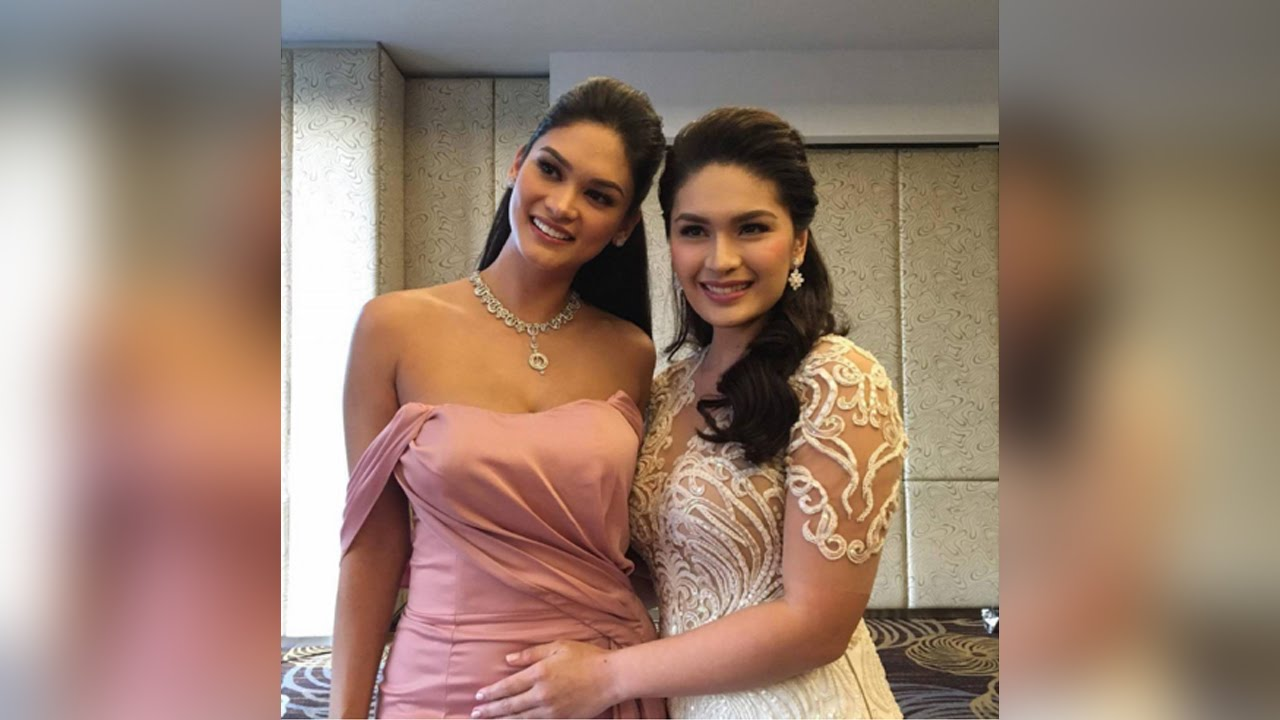 Pia arrives at Pauleen-Vic Wedding - YouTube