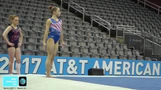 ragan smith floor 2017 at american cup podium training