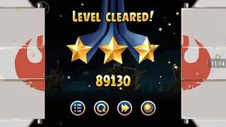 Прохождение Angry Birds Star Wars #6 [Планета Хот *2] (Червь-Пещера!)