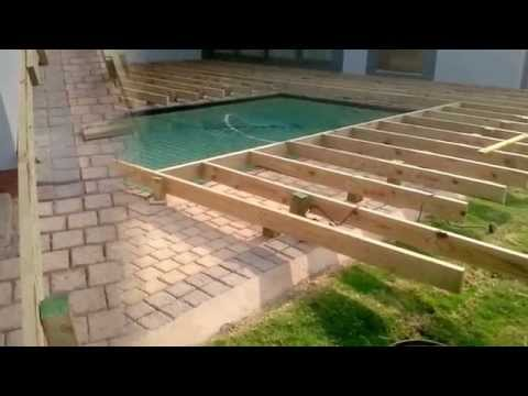 Decks4life Composite Deck With Motorized Pool Sliding C