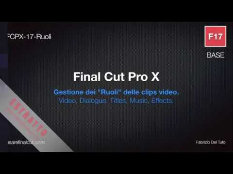 FCPX 10.2 - L17EX - GESTIONE RUOLI (VIDEO, DIALOGUE, TITLES, MUSIC, EFFECTS ROLES).