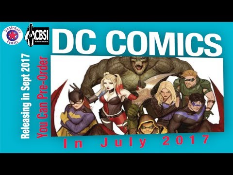 DC Comic Books to Pre-Order NOW that Release in September 2017