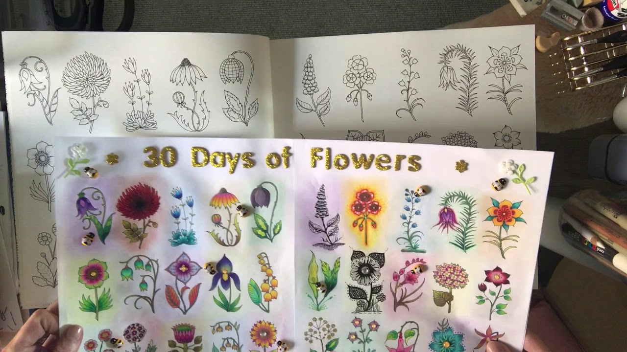 Johanna Basford World Of Flowers Full Book Flip Through And Review