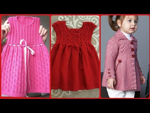 Beautiful And Stunning Hand Knitting Sweater And Frocks Stylish Designs For Girls