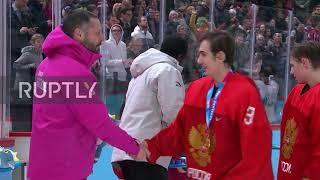 Switzerland: Russia beat US in Winter Youth Olympics ice hockey final