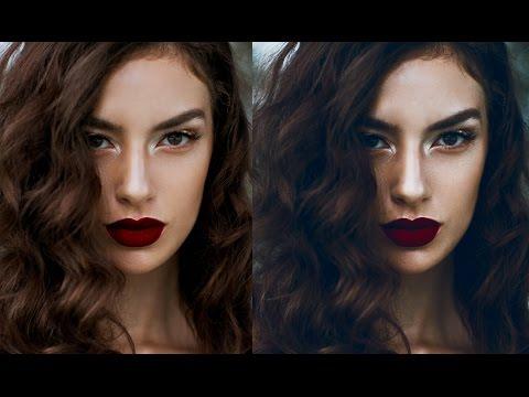 Portrait Edit in Photoshop: Cool Dark Tones