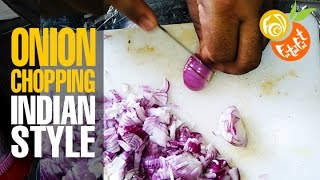 How To Chop Onions In Seconds(fatafat) | Popular Indian Style Street Food