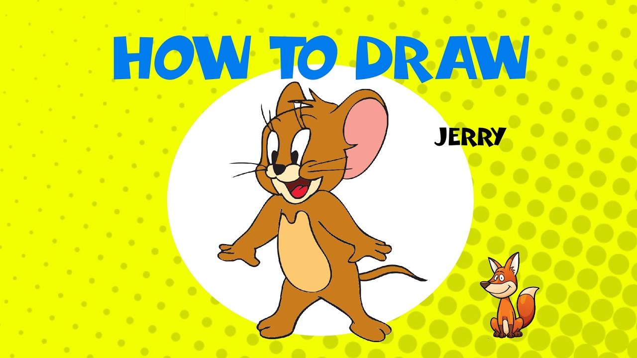 How To Draw Tom And Jerry Step By Step Drawing Tutorial Youtube