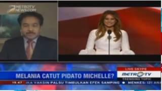 Laporan Langsung VOA untuk Metro TV: Pidato Melania Trump Tiru Michelle Obama?
