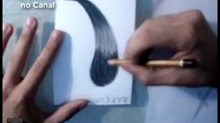 5°Aula de Desenho Realista :Como desenhar cabelos