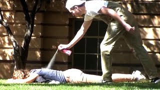Spray Painting People Prank