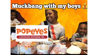 POPEYES MUCKBANG WITH THE KIDS  MUST WATCH (kids say the funniest stuff)