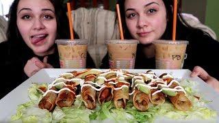 Flautas MUKBANG & Dunkin Donuts NEW Girl Scouts flavors