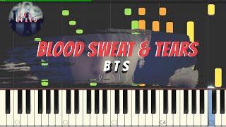 BTS Blood Sweat Tears Piano Tutorial 50 Speed