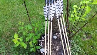 """Testing Wood Arrows With 10"""" Nock Taper, 11/32 To 5/16"""
