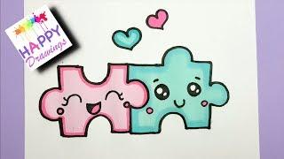 drawings easy happy draw simple cut lovers things paintingvalley