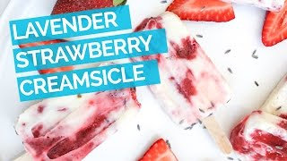 Lavender Cream & Strawberry Popsicle Recipe
