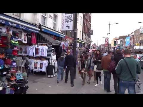Walking on Camden ( Market ) High Street, London - Sunday 21