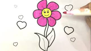 Paint Coloring Pages Flowers Learning For Kids Coloring Book And Drawing